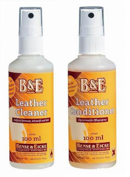 B&E Lederpflege im Set Leather Cleaner und Conditioner