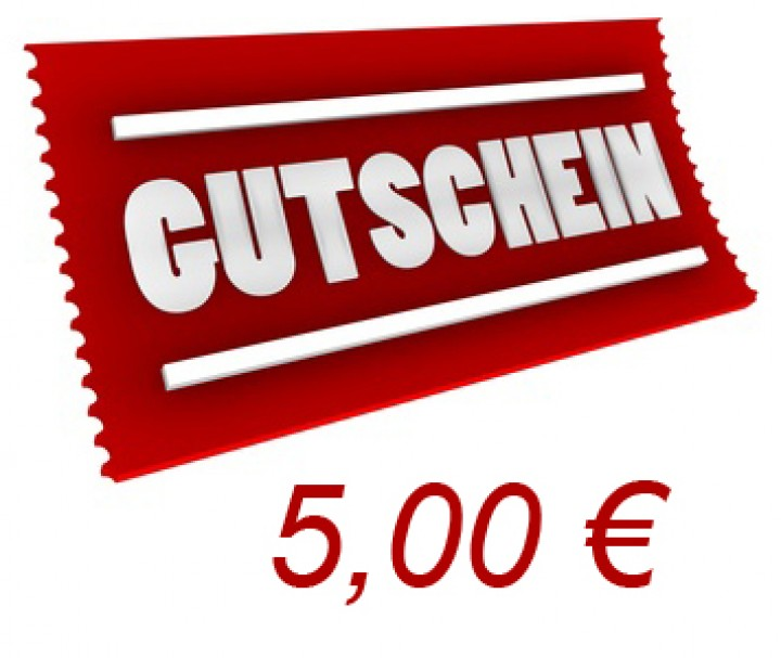 gutschein 5 euro gutscheine. Black Bedroom Furniture Sets. Home Design Ideas